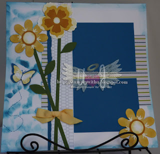 Spring Flowers Scrapbook Page