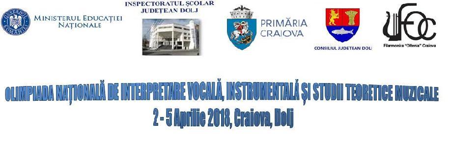 OLIMPIADA NAȚIONALĂ DE MUZICĂ,CRAIOVA 2018