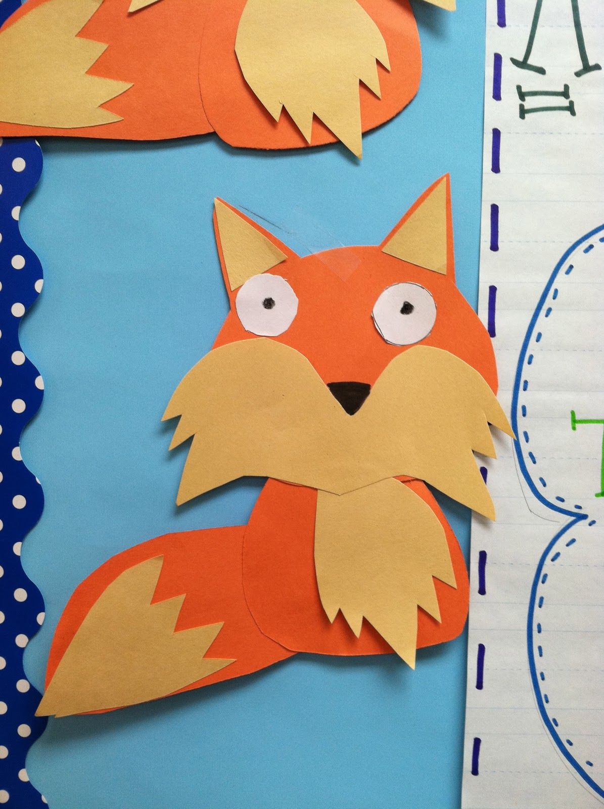 Life in first grade a fox and a kit scarecrows and for Mr art design