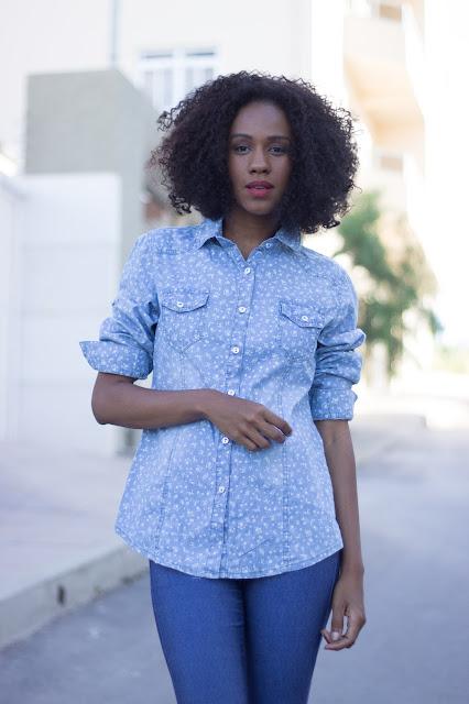 blusa jeans lavada