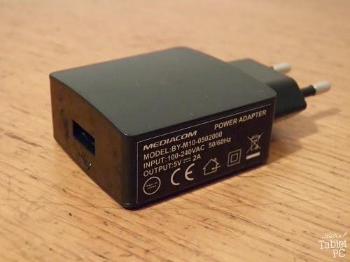 Mediacom SmartPad iPro W810, alimentatore USB