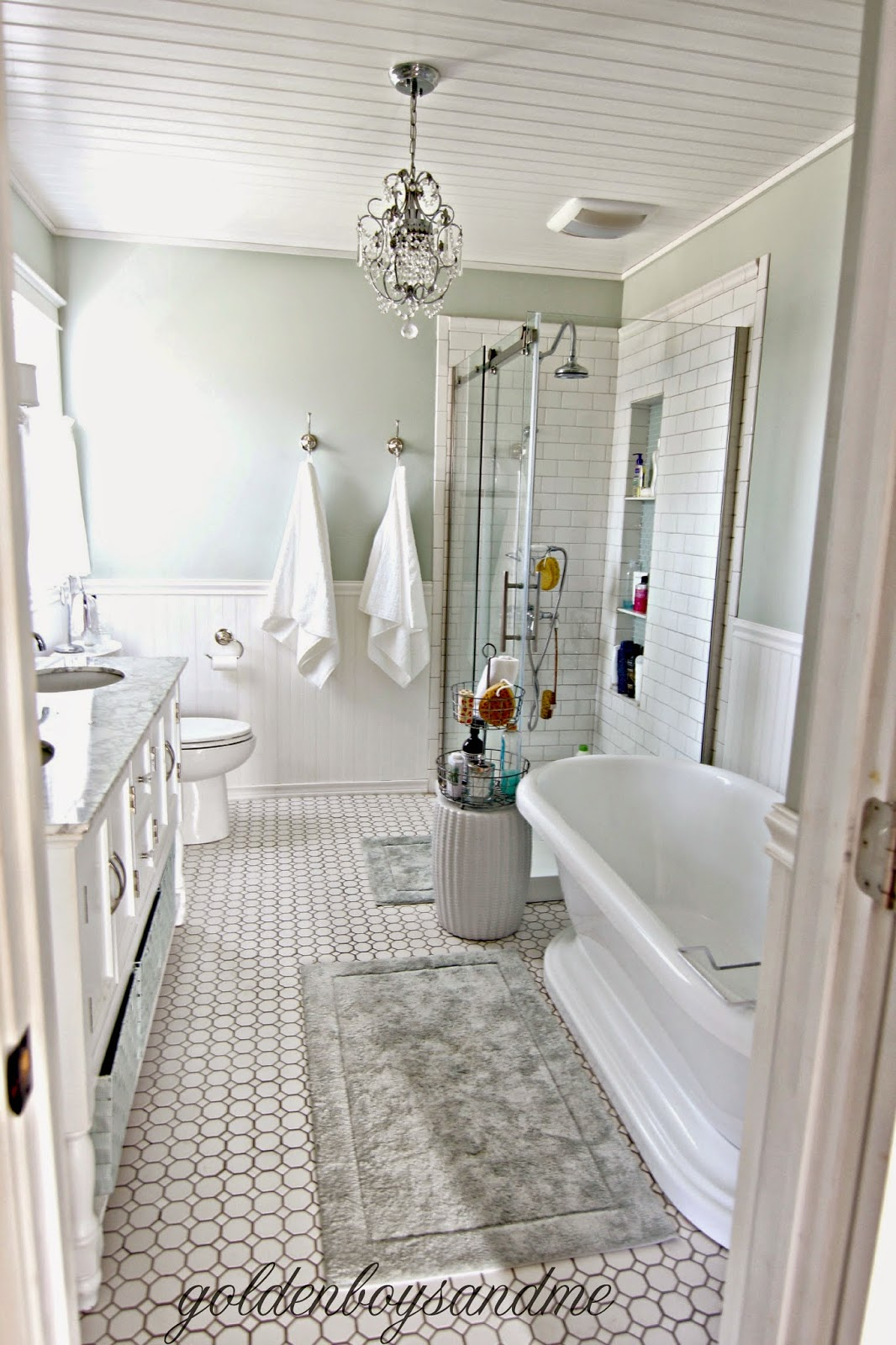 Golden Boys and Me: Revisiting the Master Bathroom & Our 2 Year ...
