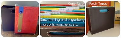 Create your own organisational system for your home's mail and paperwork with a homebox file and suspension folders
