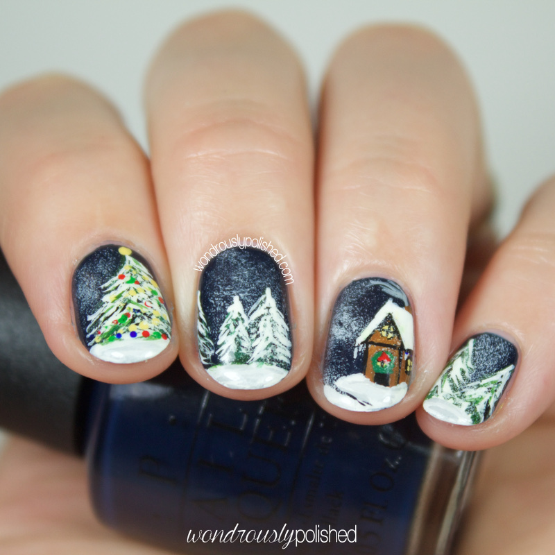 Wondrously Polished: Guest Post for Mely of Rock Your Nails - 12 Days of Christmas: Christmas Song