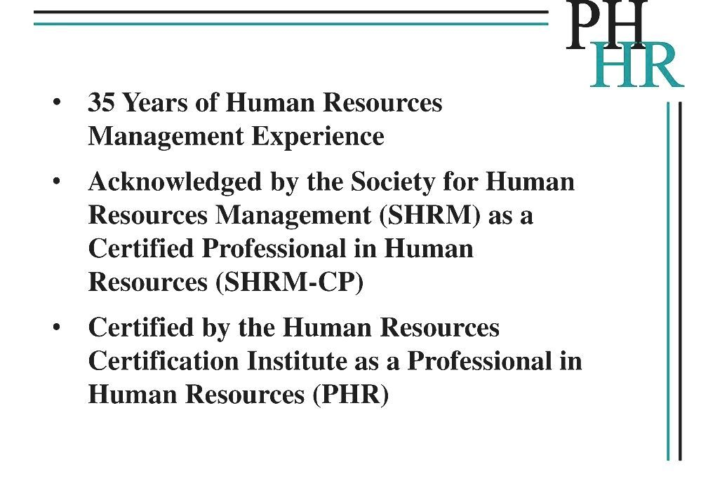 Colorful Human Resources Certification Phr Sketch Certificate