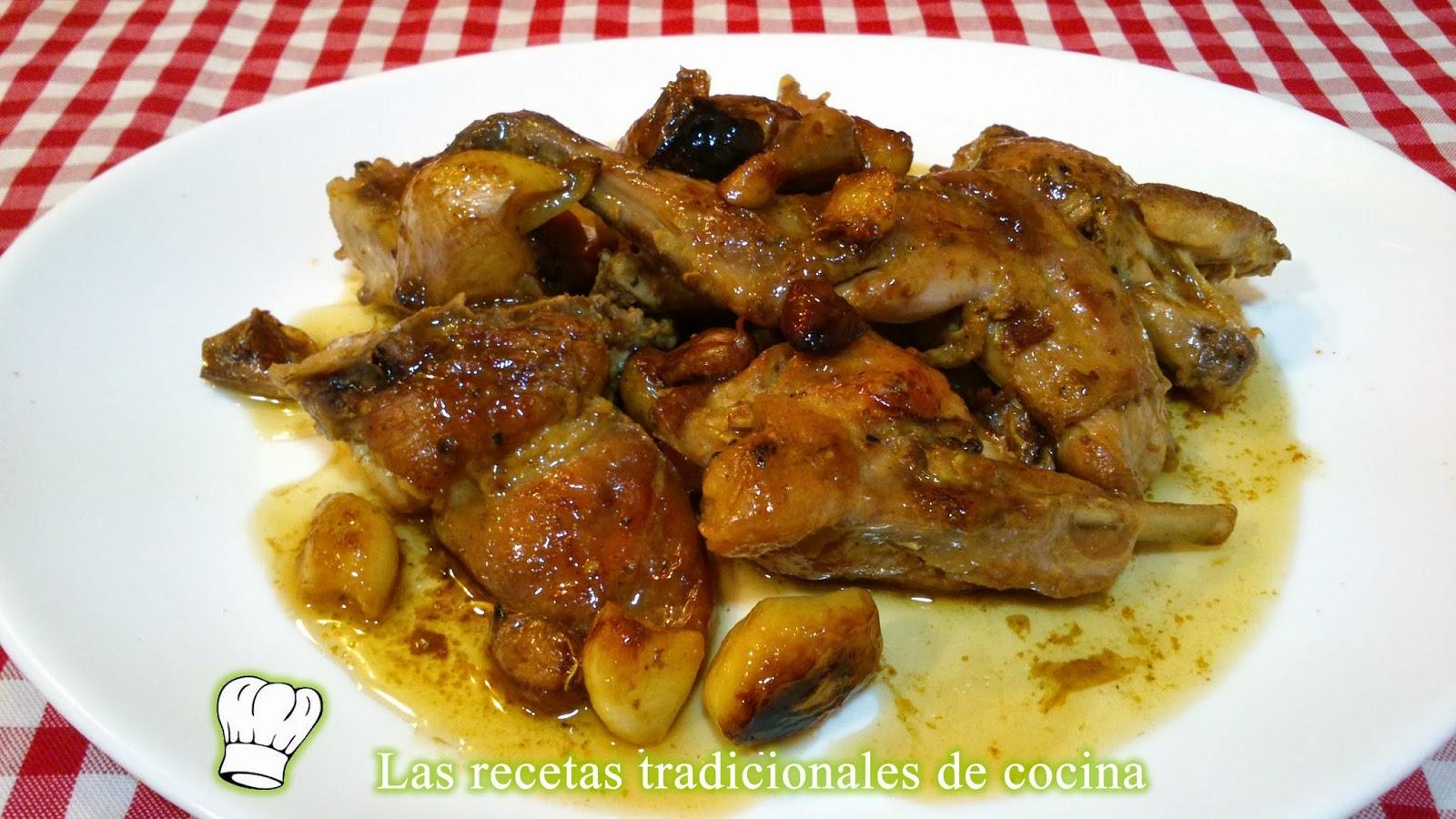 Conejo al ajillo receta f cil y r pida recetas de cocina - Cocina rapida y facil ...