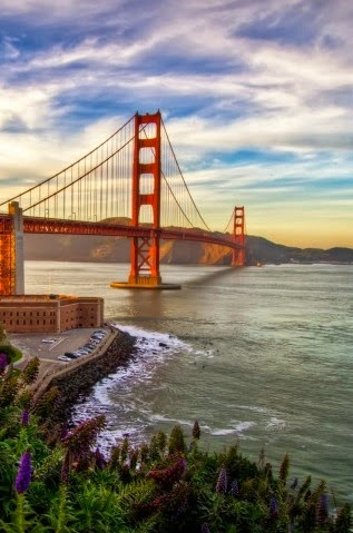 Beautiful Bridge sunset iphone wallpaper
