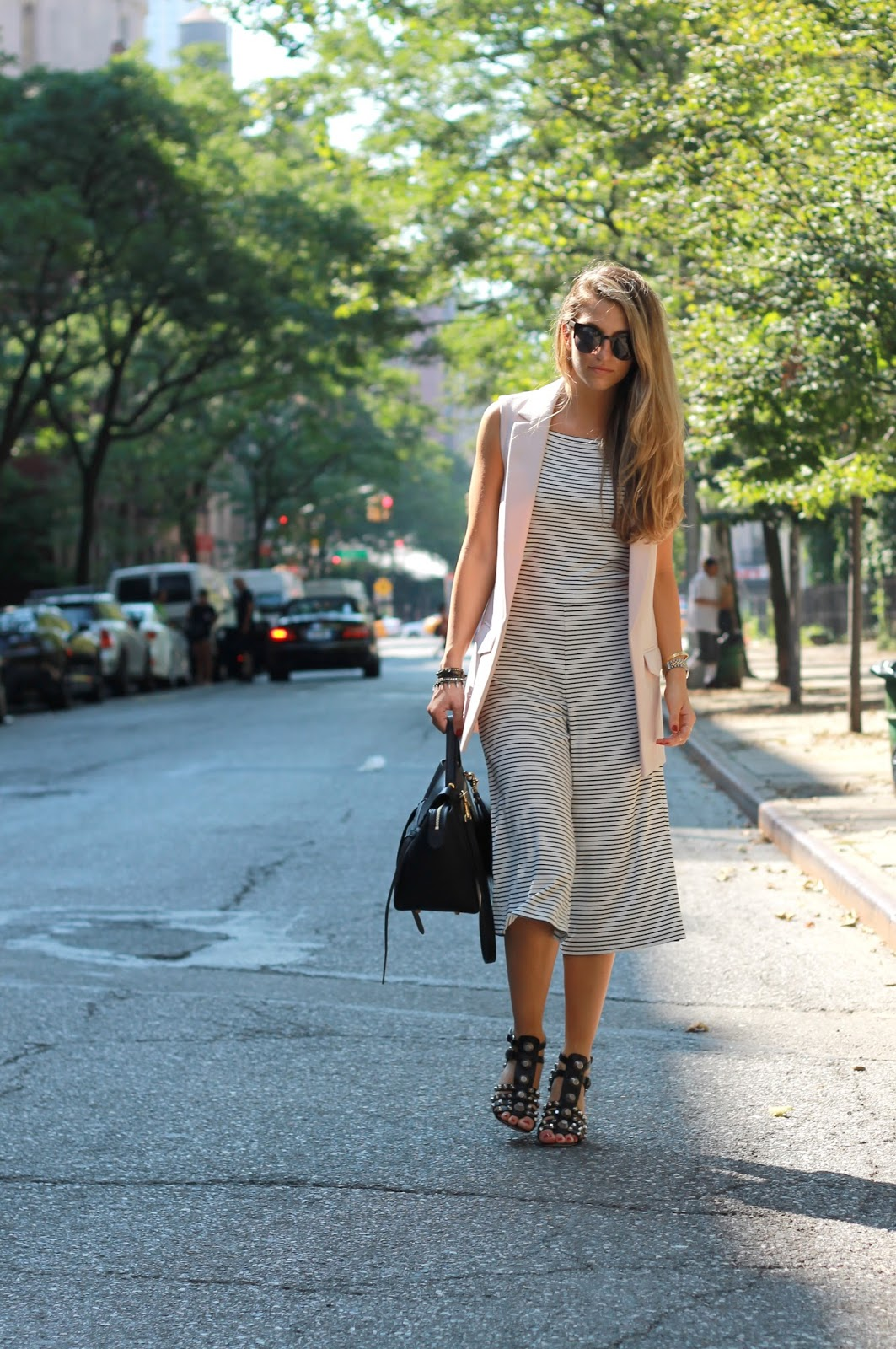 dressed for dreams in culotte outfit ideas, sleeveless jacket
