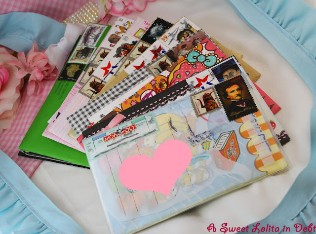lolita pen pal, lolita letters, cute envelopes