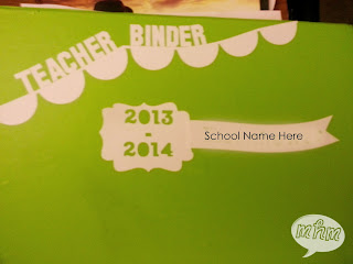 Teacher binder vinyl cover
