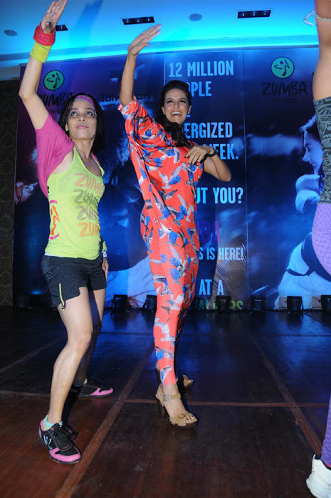neha dhupia launches zumba fitness sessions latest photos