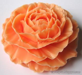 карвинг цветок из мыла