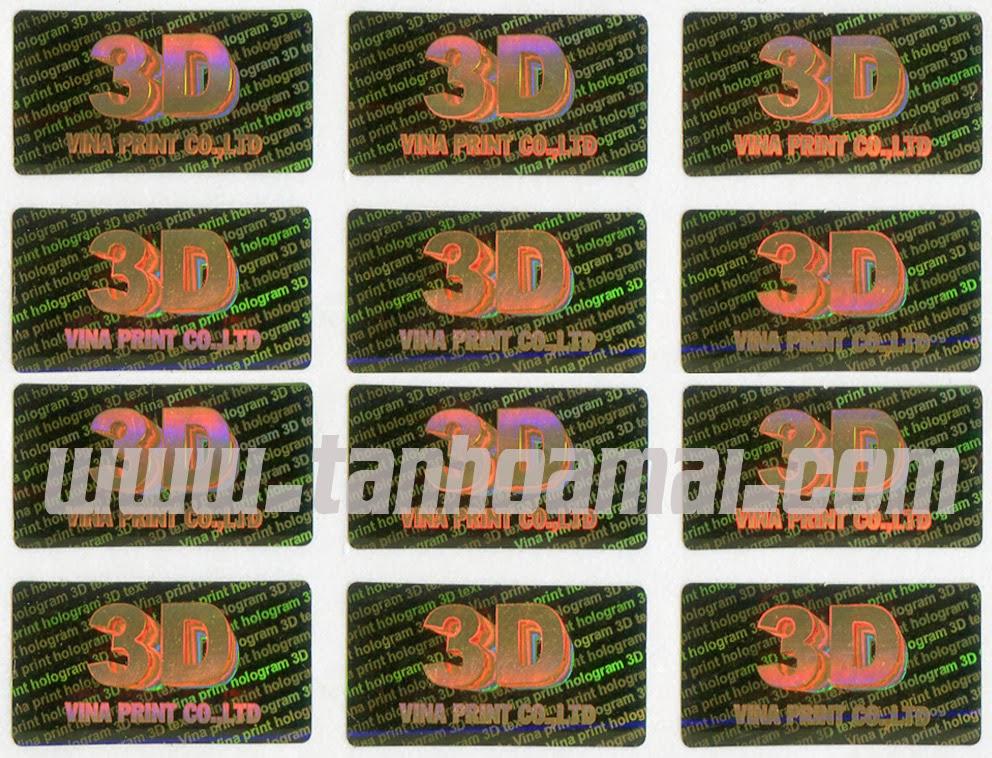 Tem chống giả 3D