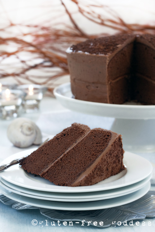 Gluten-Free Chocolate Layer Cake (dairy-free) from Gluten-Free Goddess #glutenfree