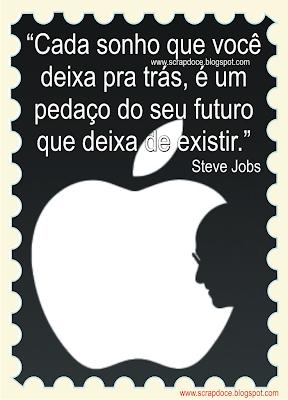 Foto Mensagem sobre Sonhos/Frase de Steve Jobs para Compartilhar no Facebook