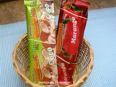 Picolé BomNocô: Picolés de Coco e de Morango