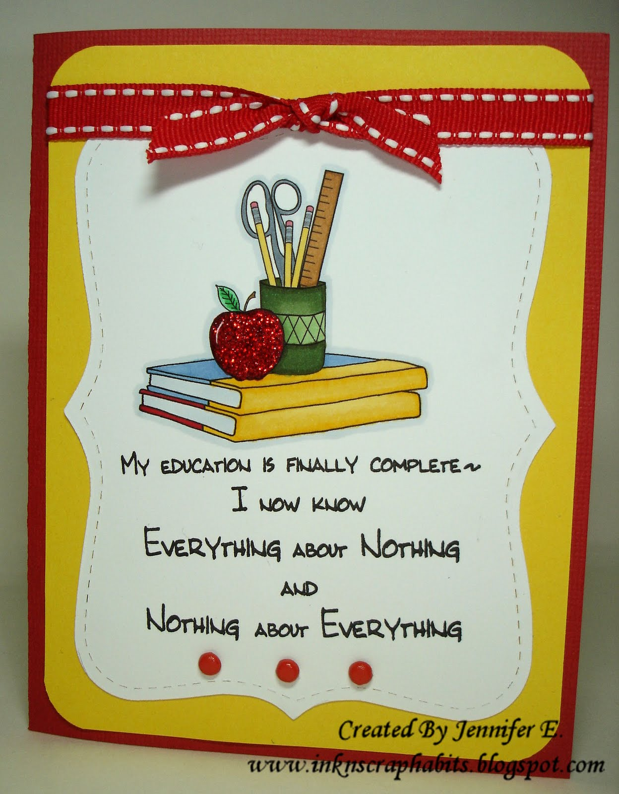 the school year comes to an end do you ive used it here to create this card along with the new teacher tools image 792g from their recent release