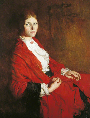 William Orpen - the red scarf