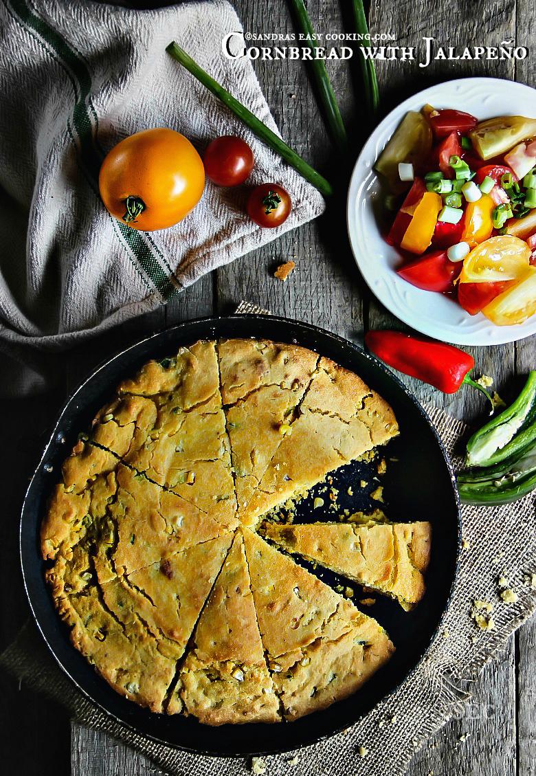 Cornbread with Jalapeño #homecooking #recipes #homemade