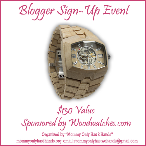 Sign up for the Wooden Watch Blogger Opp. Starts at 20 bloggers.