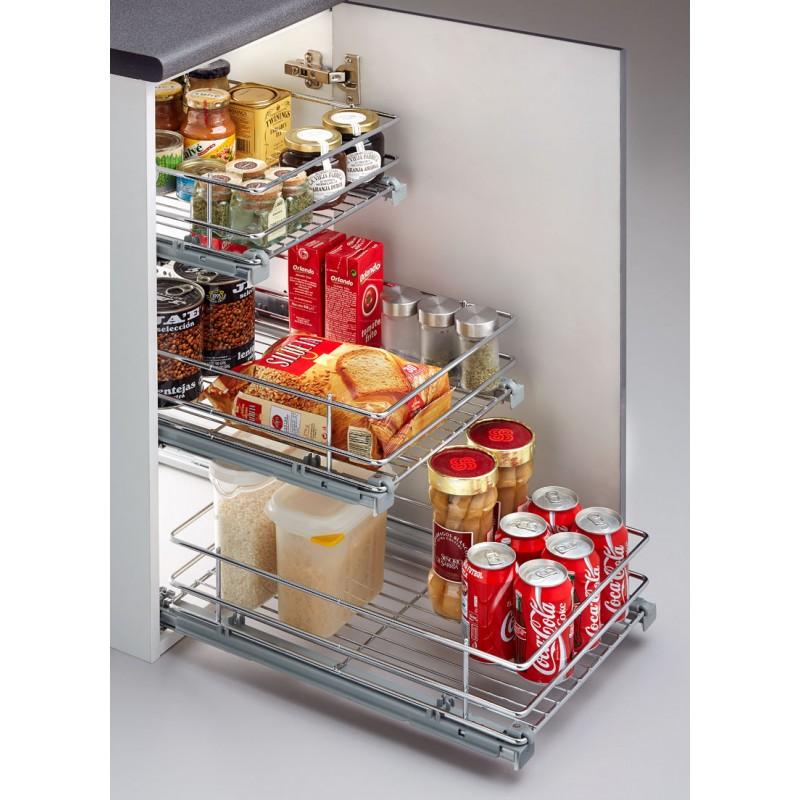 Hogar diez 8 ideas para poner orden en tu cocina - Cestas extraibles para armarios ...