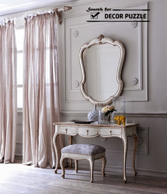French style dressing tables with mirror