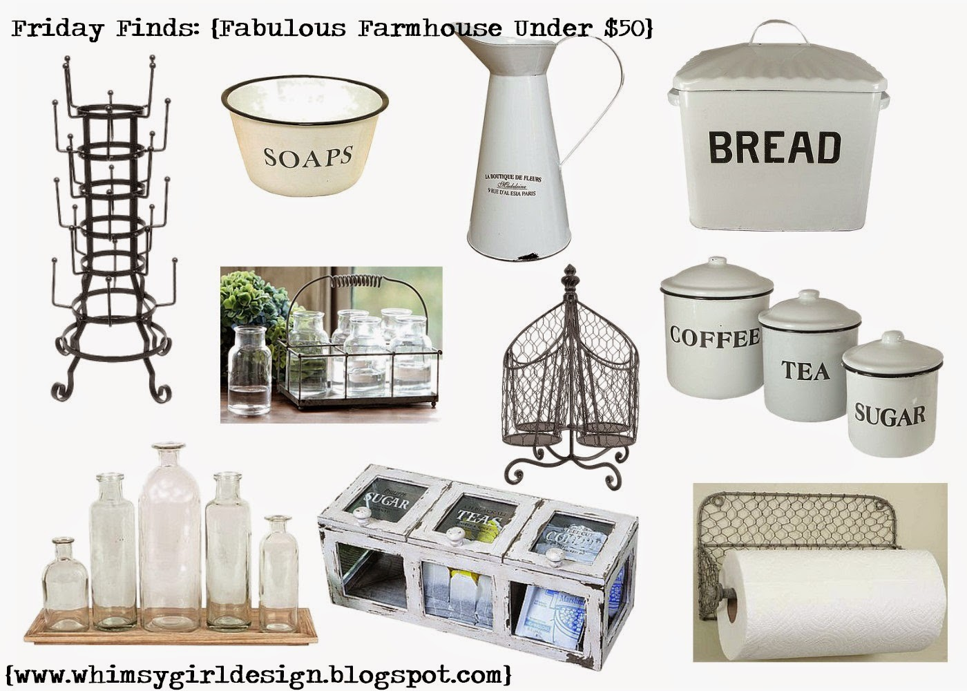 whimsy girl: Friday Finds: {Fabulous Farmhouse Under $50}