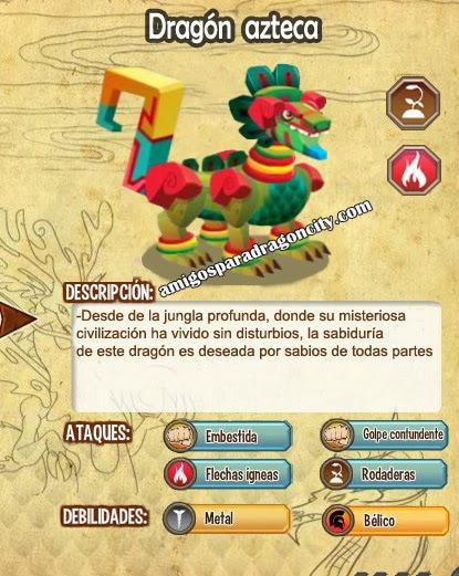 Caracteristicas del dragon azteca