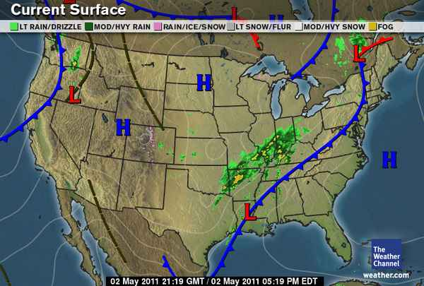 By Looking At The Surface Map It Looks Like That High Pressure System Is Going To Be Moving In Tomorrow Hopefully Going To Bring Us Some Clearer Skies And