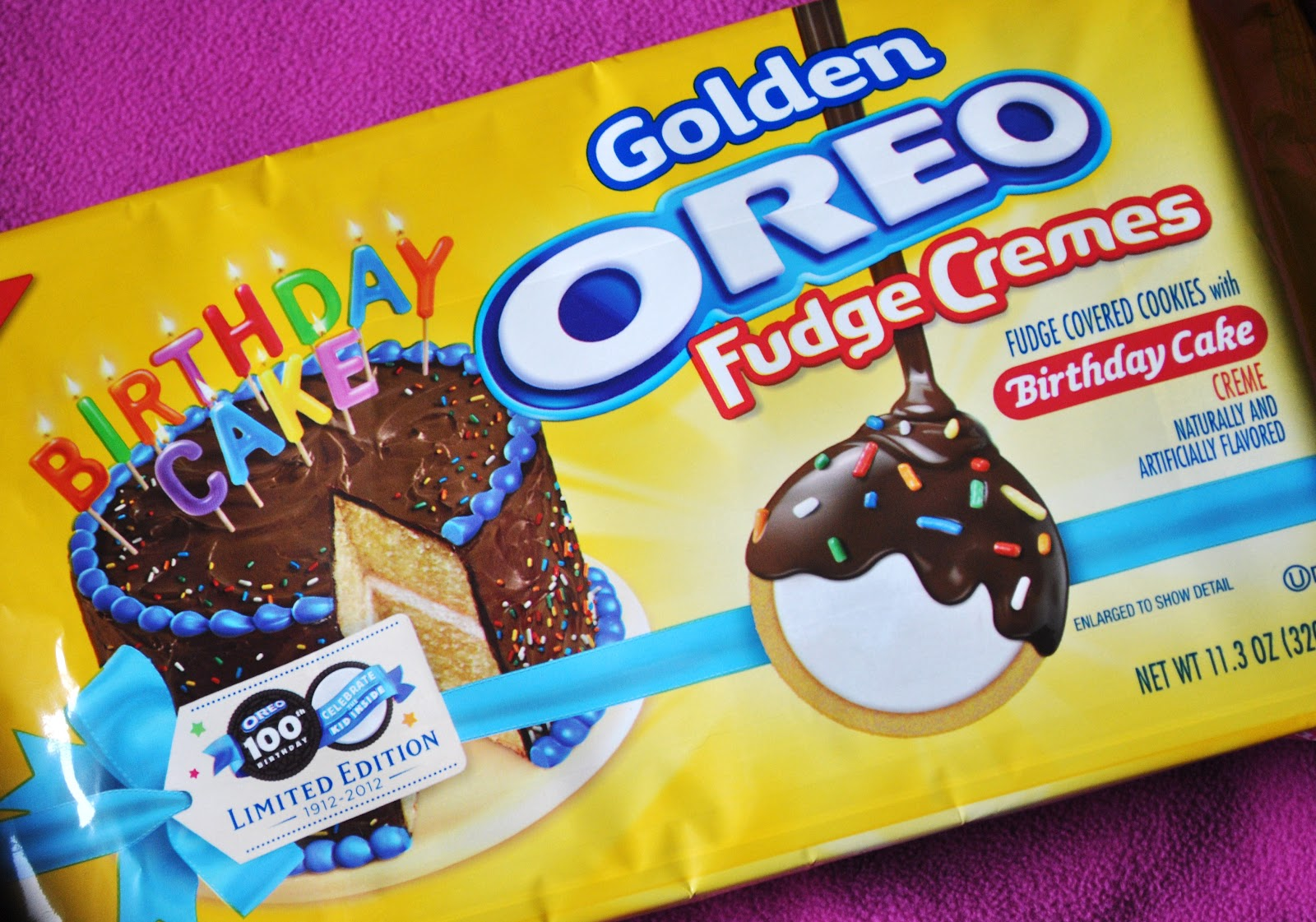 Birthday Cake Golden Oreo Fudge Cremes Foodette Reviews