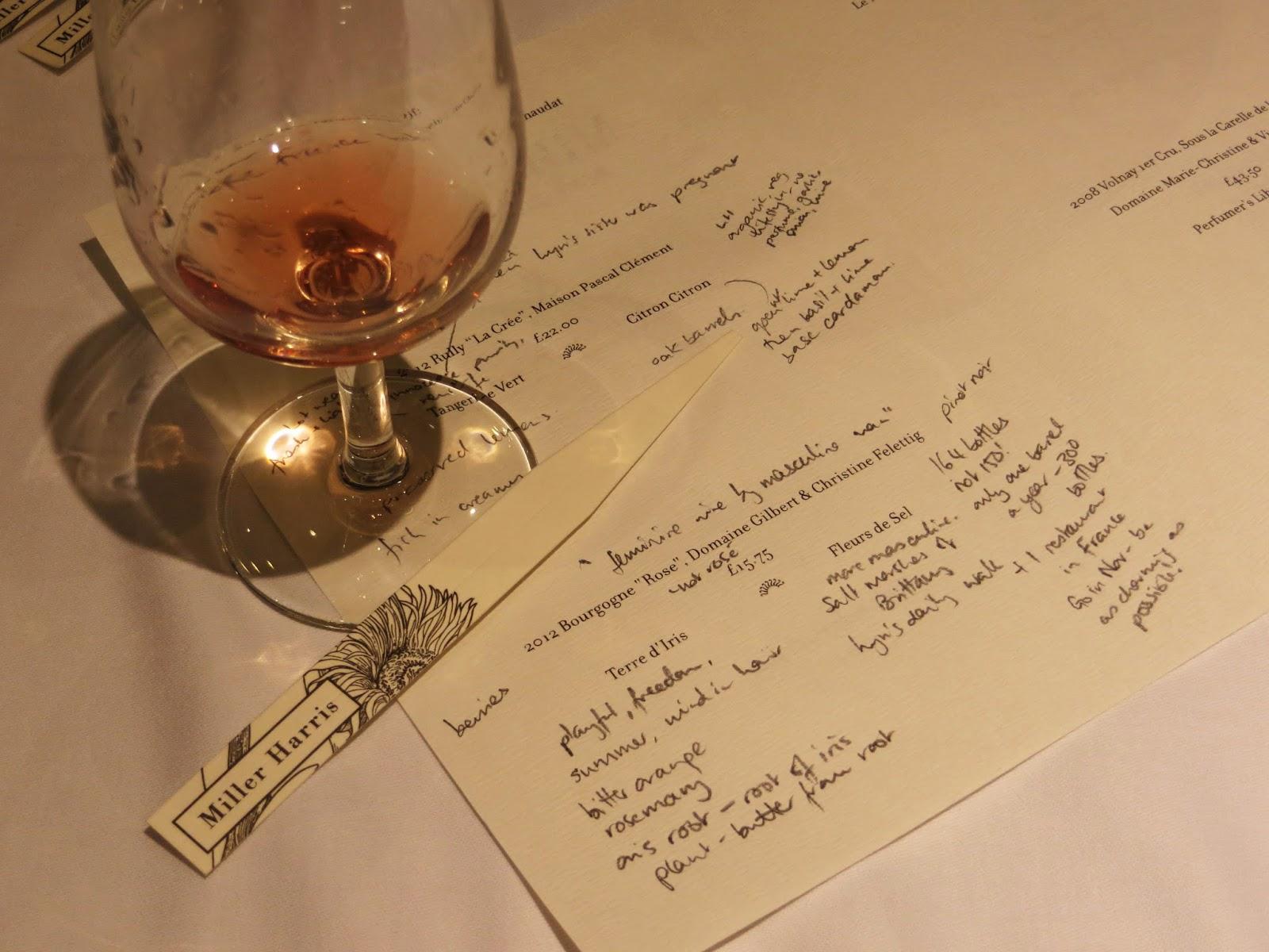 Miller Harris and The Burgundy Portfolio Wine Tasting