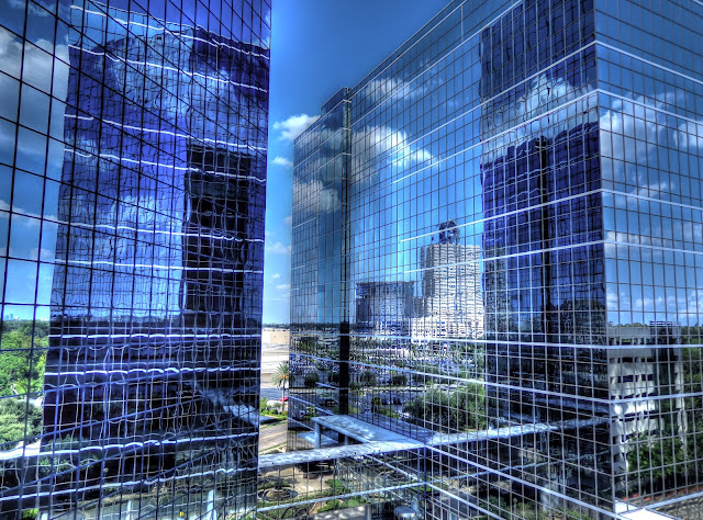 Memorial Plaza - hermann memorial hospital reflection - Houston, Texas