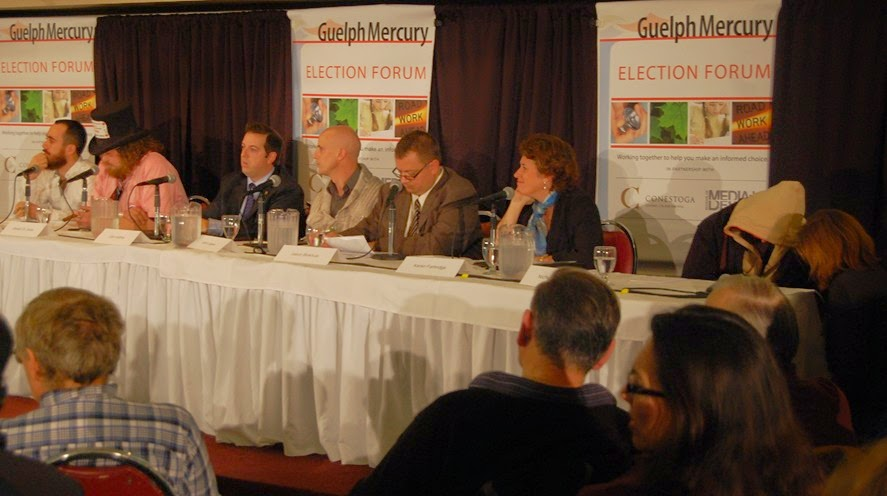 Guelph politico guelph mercury debate draws cheers and for Farcical humour in joseph andrews