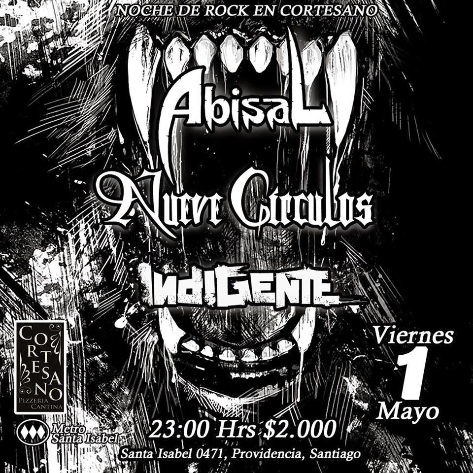 ABISAL, NUEVE CIRCULOS, INDIGENTE - Bar Cortesano