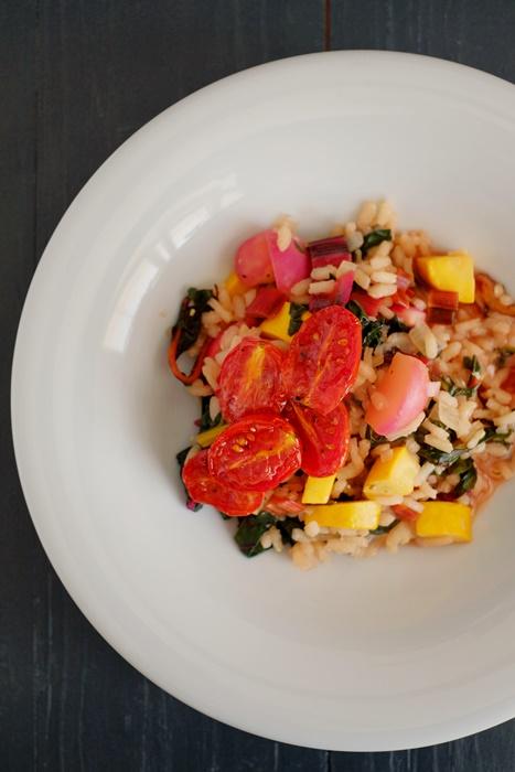 gemüse risotto tomaten vegetarisch vegan