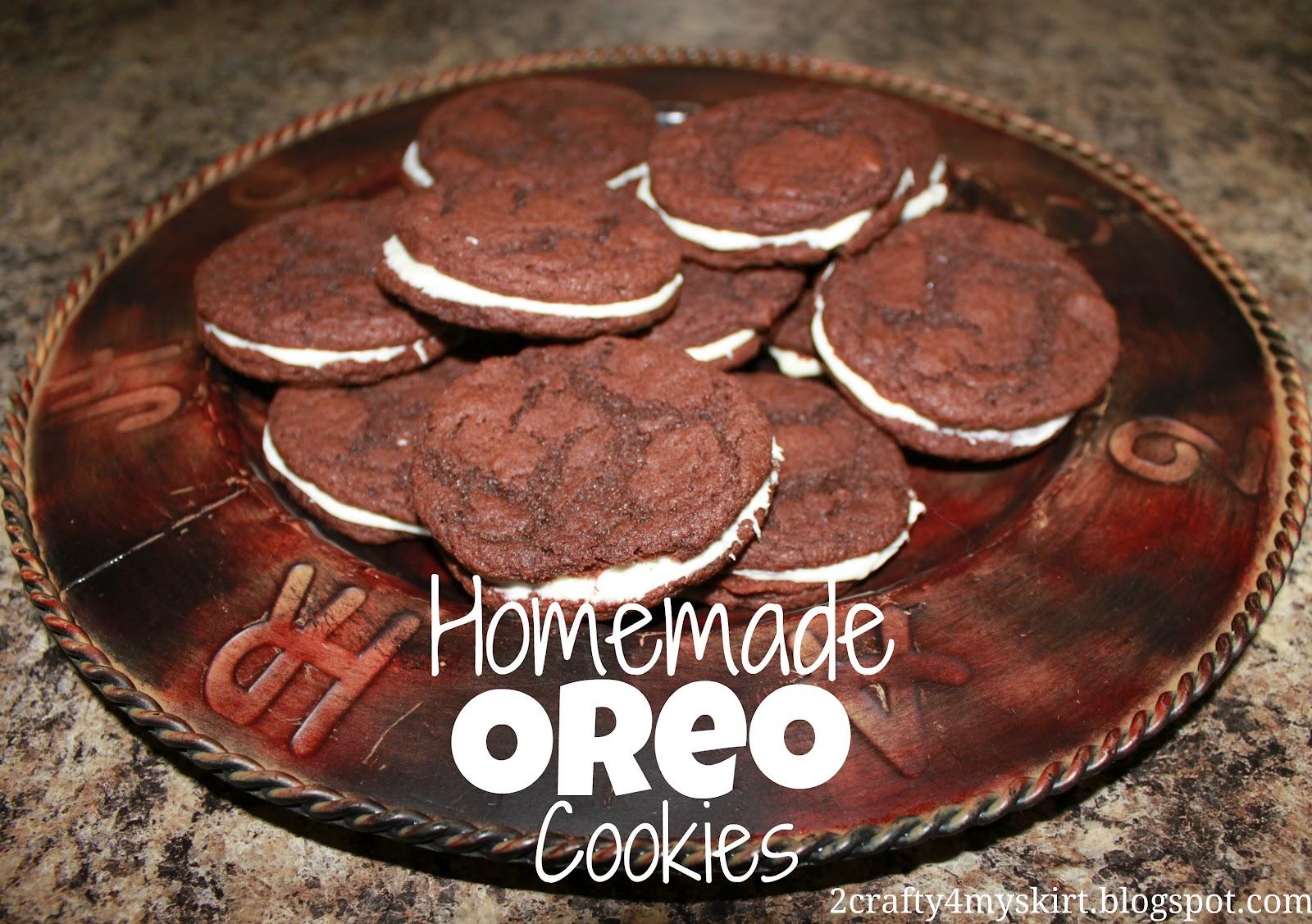 Homemade Oreo Cookies Betty Crocker Cake Mix