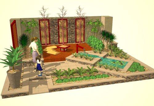 Jardines al sur dise o de jardines 3d con google sketchup - Diseno jardines 3d ...