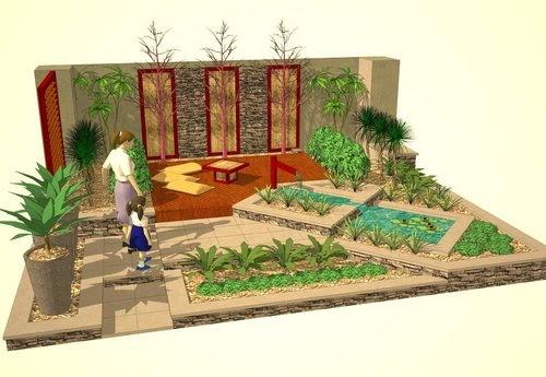 jardines al sur dise o de jardines 3d con google sketchup. Black Bedroom Furniture Sets. Home Design Ideas