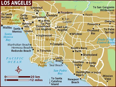 Los Angeles City Map Pictures