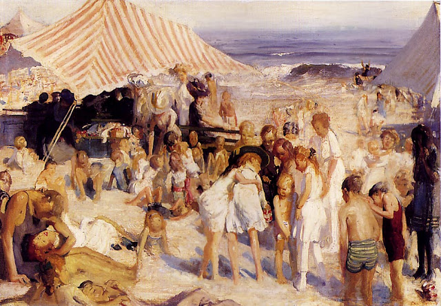 1908-10 Beach at Coney Island