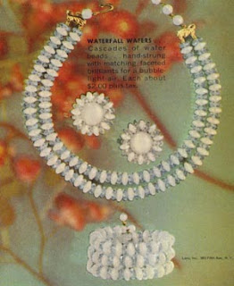 Vintage Waterfall Wafers Jewelry Set