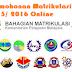 Permohonan Matrikulasi Sesi 2015 2016 Online