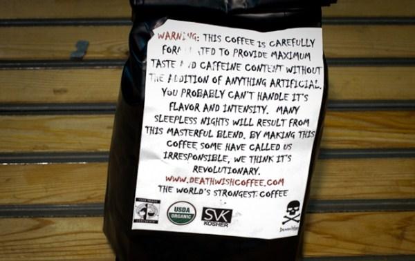 Kopi Dengan Kandungan Kafein 200%