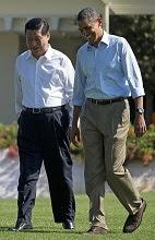 Xi Jinping & Barack Obama at Rancho Mirage.