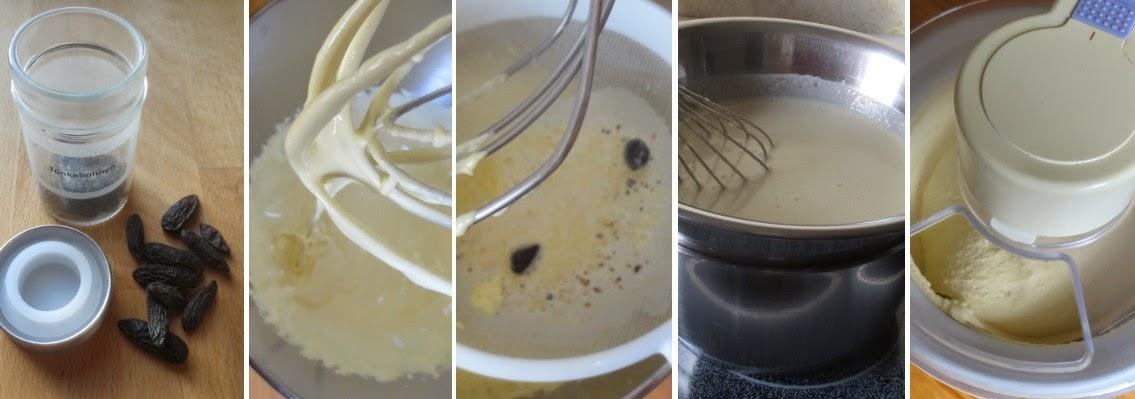 Zubereitung Tonkabohnen-Eis