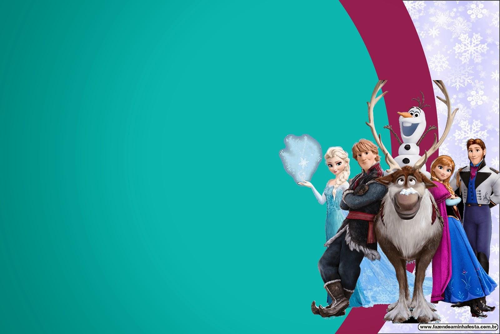 Fiesta Frozen: Invitaciones para Imprimir Gratis.   Ideas ...