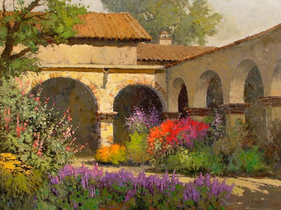 beautiful landscape oil paintings by Sean Wallis
