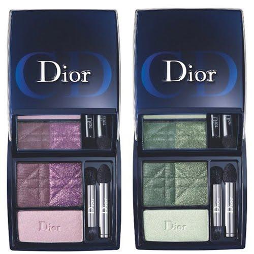 Трицветна палитра сенки за опушен грим Dior