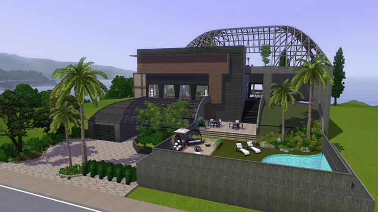 My sims 3 blog simple modern house by bangsain for Classic house sims 3