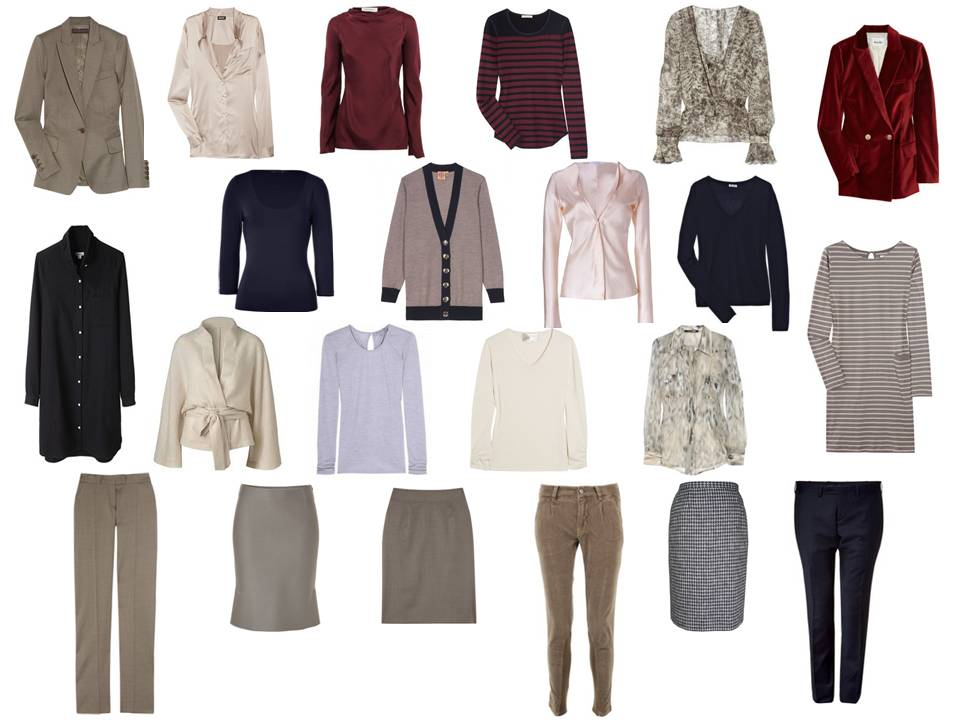 Capsule Wardrobe For An Office Environment In Taupe